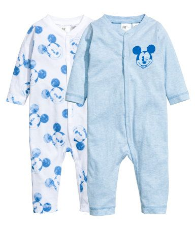 Set van 2 pyjamapakjes | Lichtblauw/Mickey Mouse | Kinderen | H&M NL