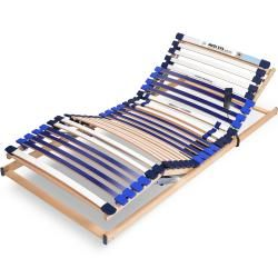 Adjustable slatted bed bases