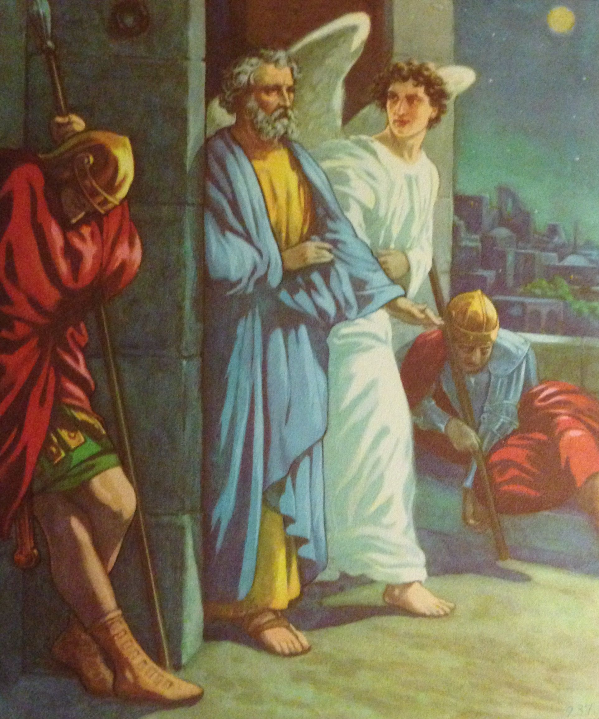 Peter Is Set Free From Prison By An Angel Acts 12 6 8