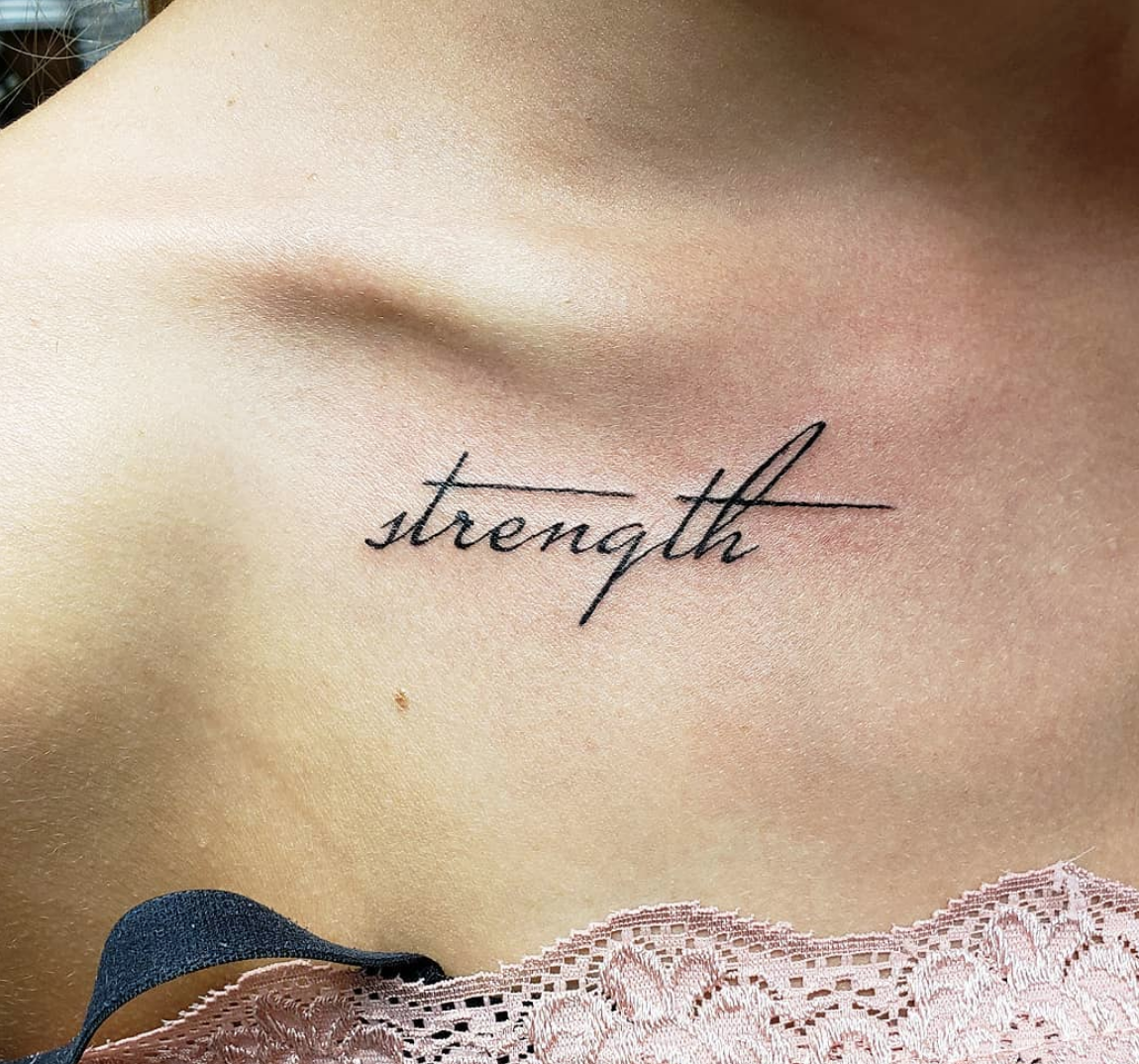 40 Inspiring Tattoo Ideas To Get After A Divorce Strong Tattoos Strength Tattoo One Word Tattoos