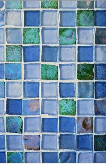 Colorful Rustic Glass Tile Wallpaper Tile Wallpaper Blue Glass