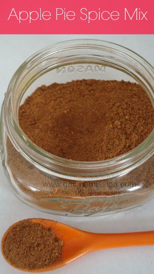 Apple Pie Spice Mix 3 tbsp ground cinnamon 1 tbsp allspice 2 tsp ground nutmeg 1 tbsp ground ginger 1 tsp cardamon