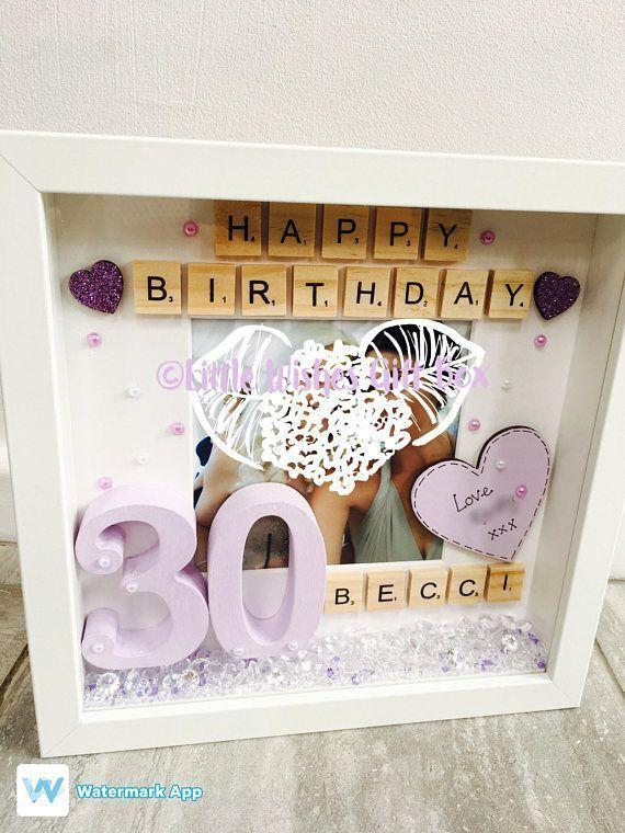 Crafts For Boys 30 GeburtstagsfeierFotokastenrahmen Kann für jedes Alter und in jeder Farbe   Box frames
