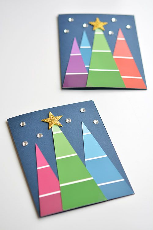 easy christmas card ideas for kids to make