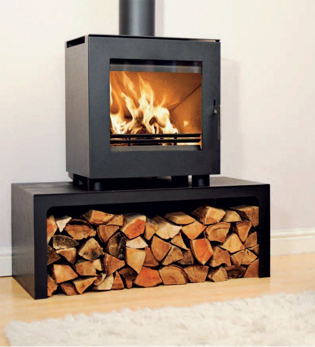 uniq 23 defra approved wood burning stove with log stand from rh pinterest com