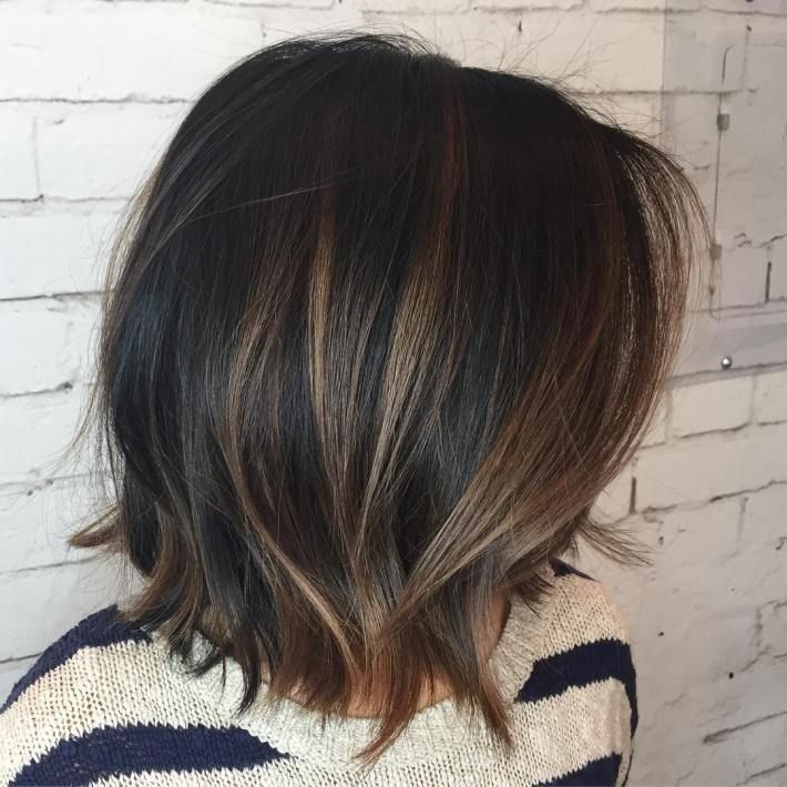 Found on google from pinterest highlights pinterest caramel base with ashier highlights black choppy bob with brown highlights pmusecretfo Gallery