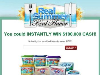 """Challenge Butter $100,000 """"Real Summer. Real Flavor."""" Sweepstakes"""