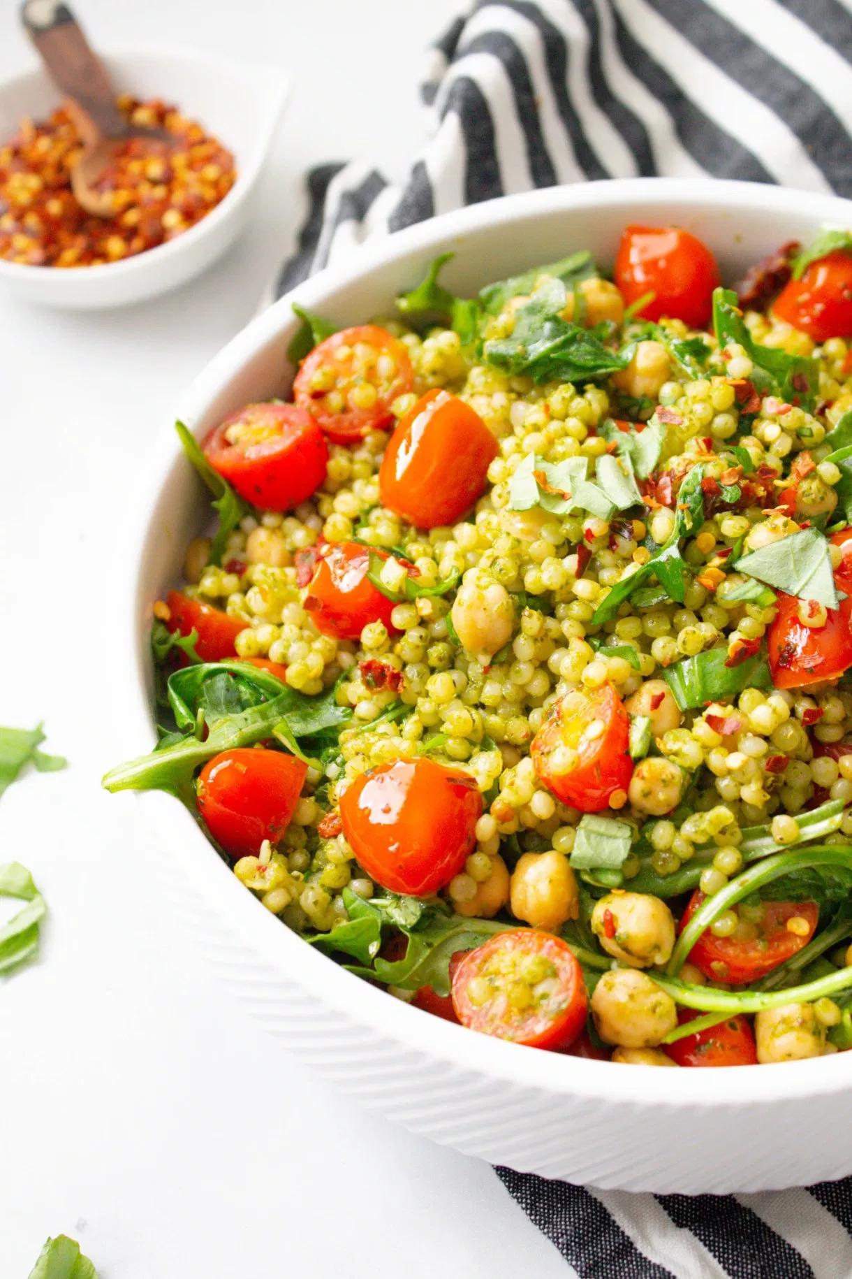 Vegan Mediterranean Couscous Salad