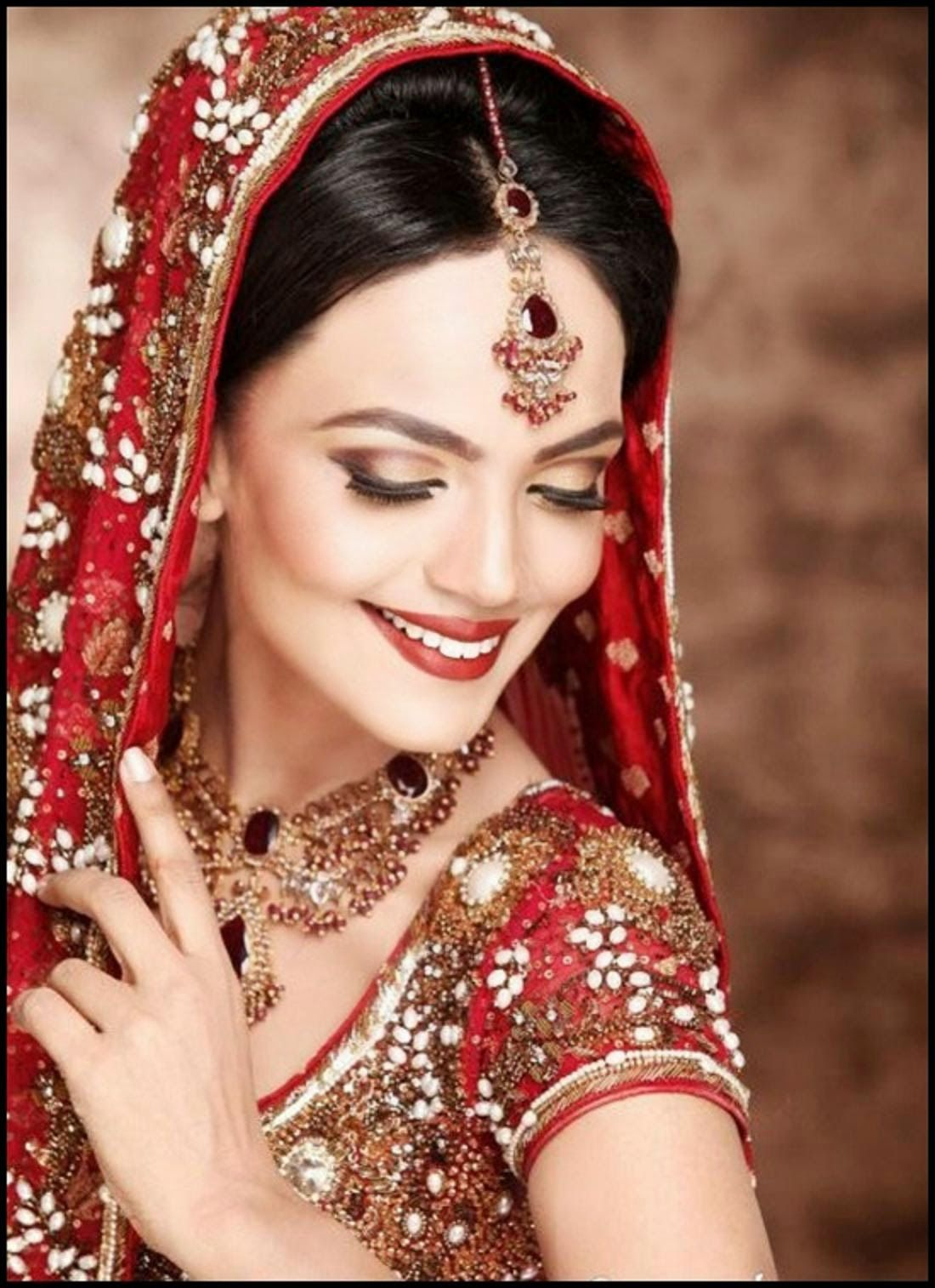 Indian Dulhan New Look Makeup Ideas 2014 For Girls Image