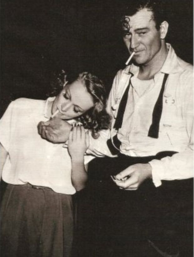 John Wayne and Marlene Dietrich in 1941