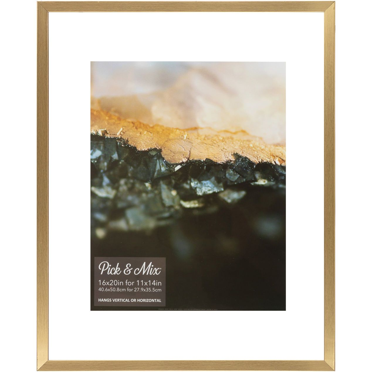 Pick And Mix 16x20 Gold Linear Profile Float Photo Frame Frames On Wall Photo Frame Floating Frame