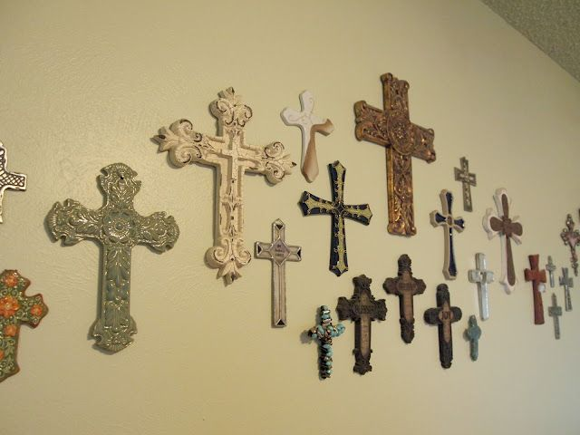 The Grant Life: Wall of crosses | Easy Home Decorating Ideas ...