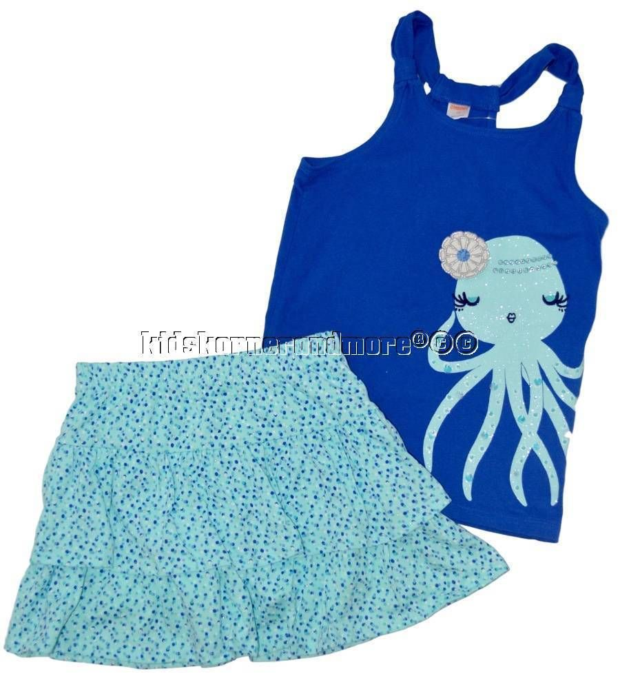 Gymboree NWT Blue SEA SPLASH HORSING AROUND DRESS TANK TOP SHIRT TEE 3 6 Months