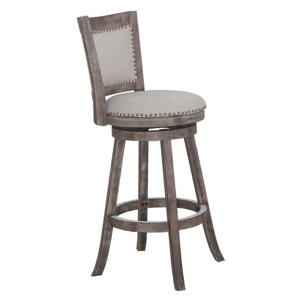 Melrose 29 inch swivel bar stool creamivory grey rubberwood melrose 29 inch swivel bar stool creamivory grey rubberwood malvernweather Images