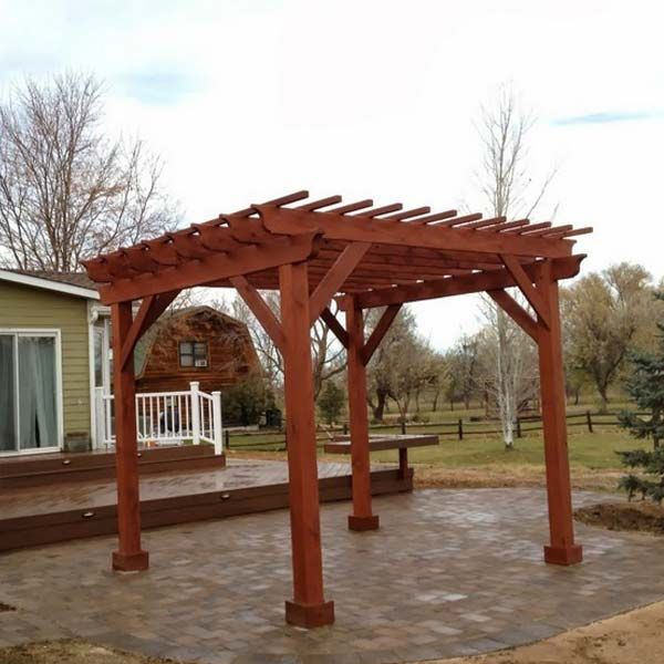 Stand Alone Pergola Designs : This stand alone pergola creates a room outdoors garden
