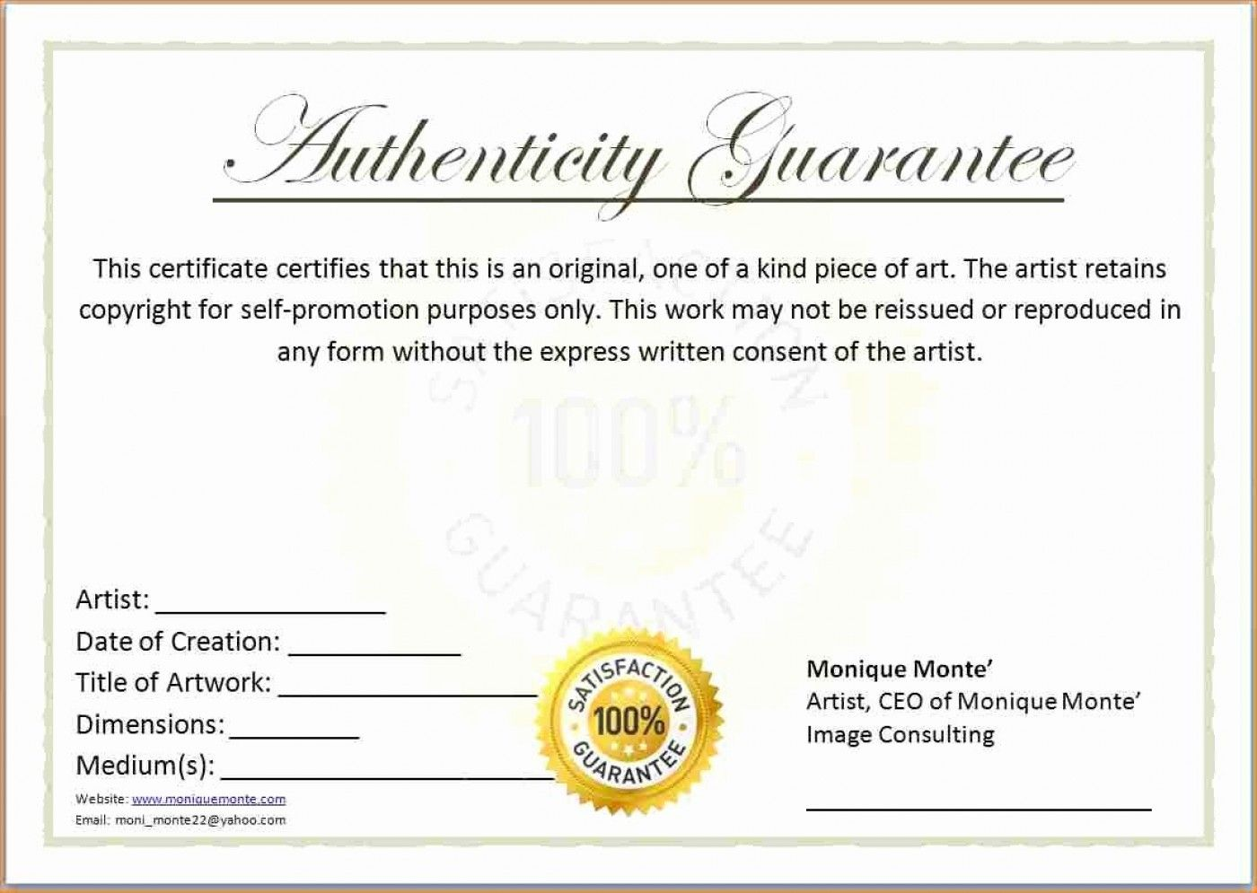 The Inspiring 007 Certificate Of Authenticity Template Free Aplg With Ce Free Printable Certificates Printable Certificates Certificate Of Achievement Template Certificate of authenticity template free
