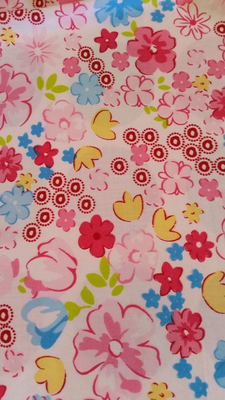 Fitted Cot sheet  Retro flower power daisey Pink Girls Nursery Kawaii Handmade by Kittyandzac Australia ready made by kittyandzacs on Etsy