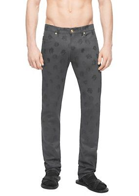 Versace - Medusa Print Denim Trousers