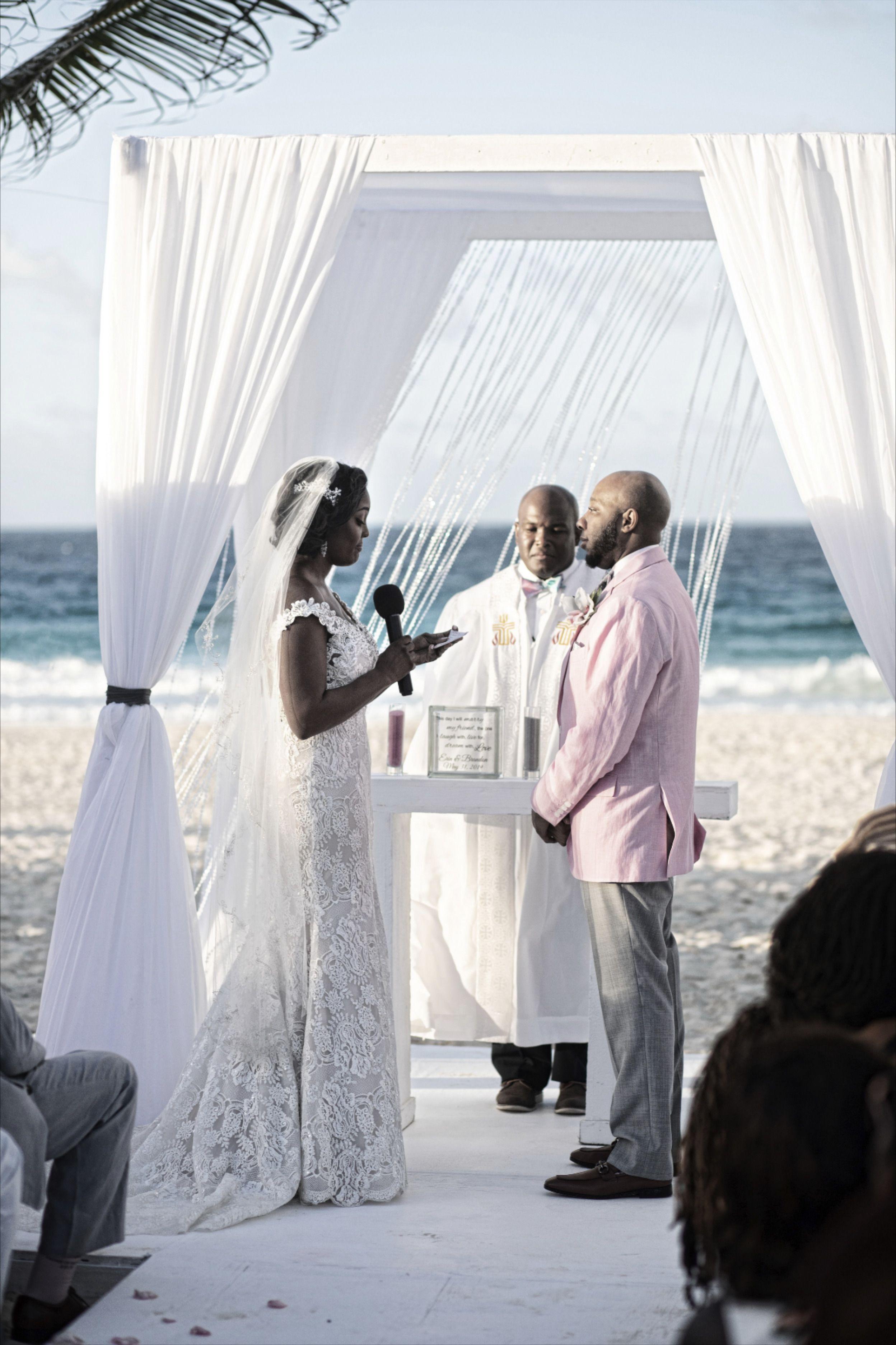 Elegant White Wedding Gazebo For Erin And Damon S Beach Wedding At