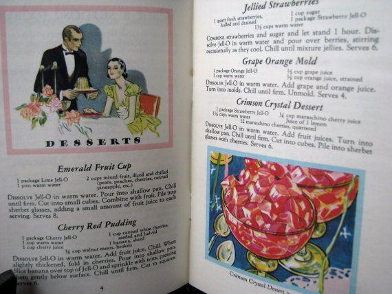 General Foods JellO Jello Recipes by BlueSkiesVintage4U on Etsy, $3.00