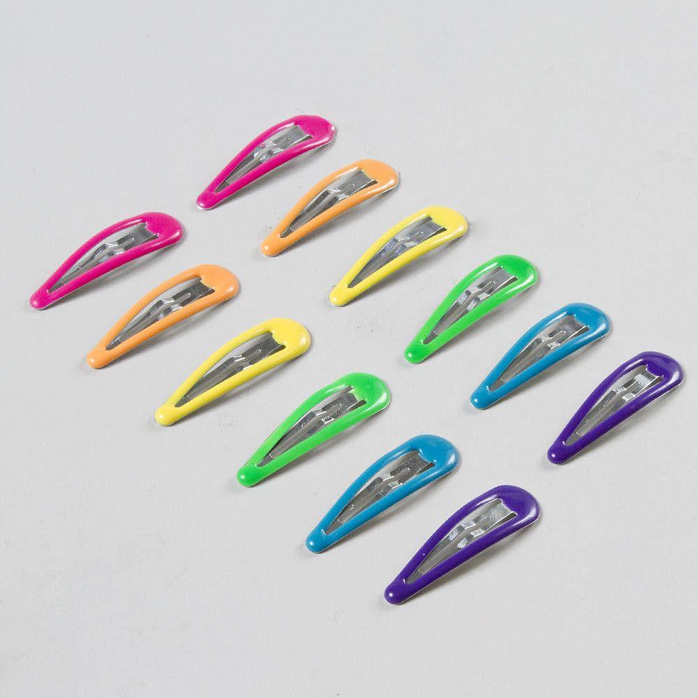 Color Me A Rainbow Hair Snap Clips Metal Hair Clips Metallic Hair Hair Clips