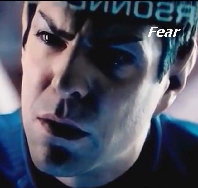 """all-things-geeky: """" So this is something I noticed during my fifth rewatch of Into Darkness. """" When Spock is explaining to Uhura about how he melded with Pike when he was dying and found that the..."""