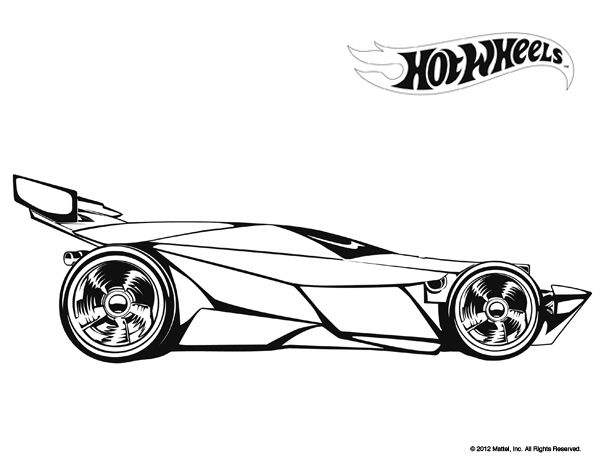 Hot Wheel Ferrari Colouring Pages (page 2)