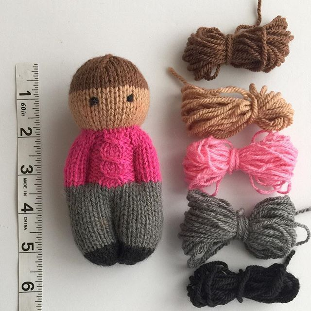 "Esther Braithwaite Designs on Instagram: ""It's a Forest Family!  Forest Friends Dolls are 5 1/2"" tall; Mini Forest Friends are 4"" tall.  Both patterns are available for purchase in…"" #knitteddolls - yowyow #knittedtoys"