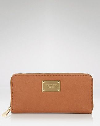MICHAEL Michael Kors Jet Set Zip-Around Leather Continental Wallet | Bloomingdale's