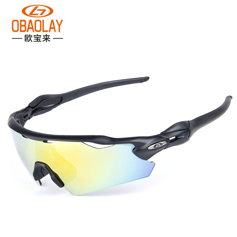 Cycling Glasses 5 Lens Windproof Anti Fog With Mypia Frame Polarized Sunglasses