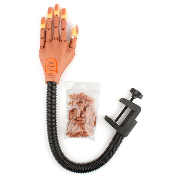 Professional+Nail+Trainer+Tools+practice+hand+Finger+Beauty+Nail+Salon+Equipment+Adjustable+nail