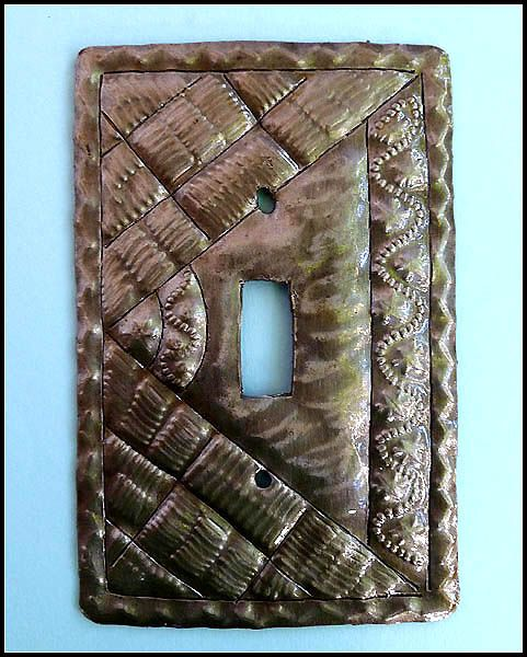 Hand Hammered Metal Wall Plate Outlet Cover Haitian Recycled Steel