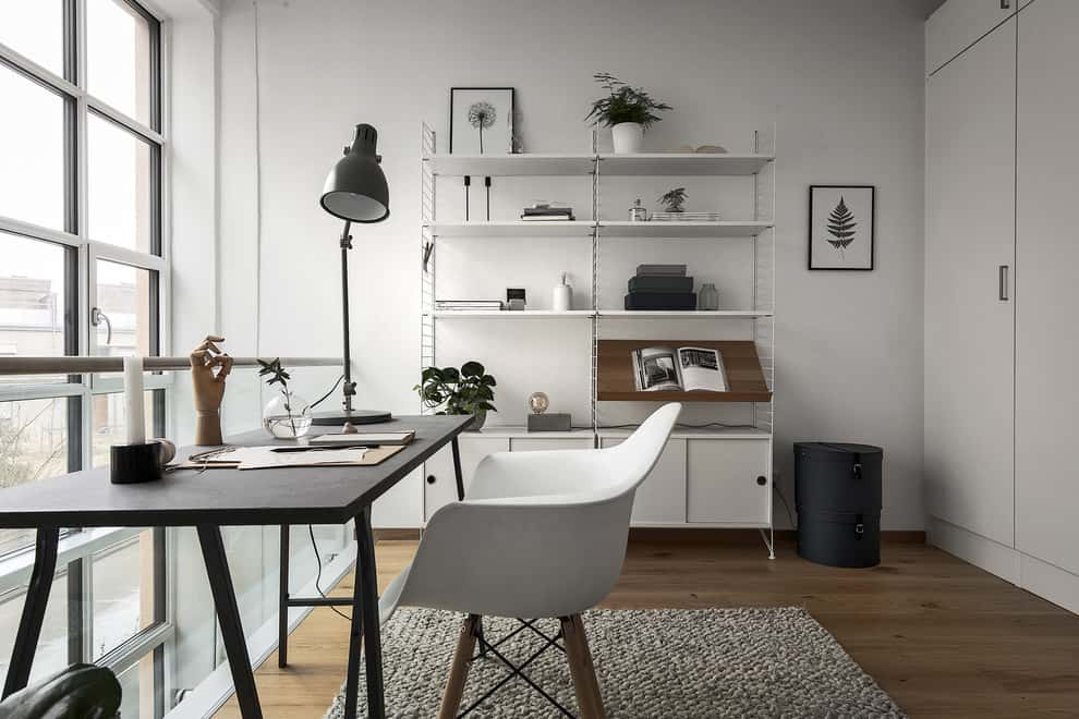 20 Irresistible Scandinavian Home Offices That Will Boost Your Productivity Homesthetics Inspiring Ideas For Your Home Office Design Home Scandinavian Home