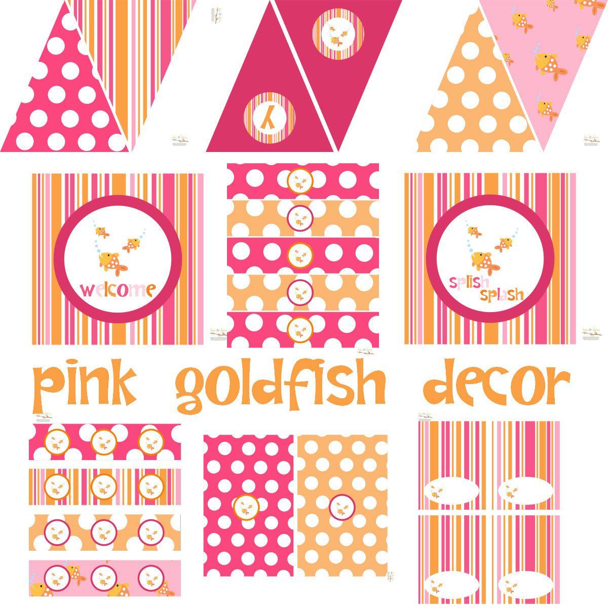 Girl Goldfish Birthday Goldfish Baby Shower Goldfish Birthday