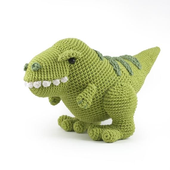 Crochet Pattern Titus the T-Rex dinosaur Amigurumi PDF - make your own cute dinosaur DIY #crochetdinosaurpatterns
