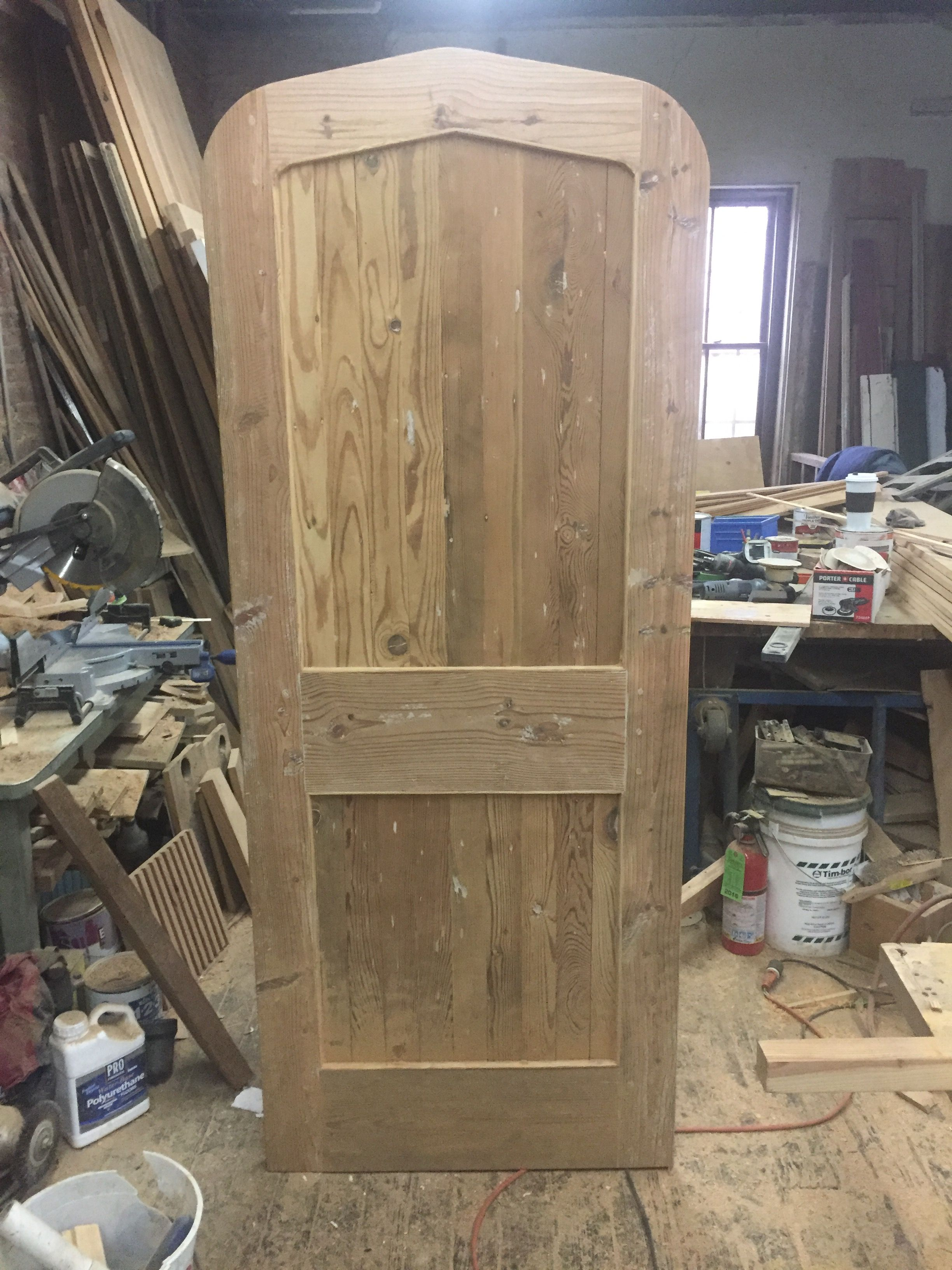 Gothic Style Door Made From Antique Pine Doors Google Photos Home Decor