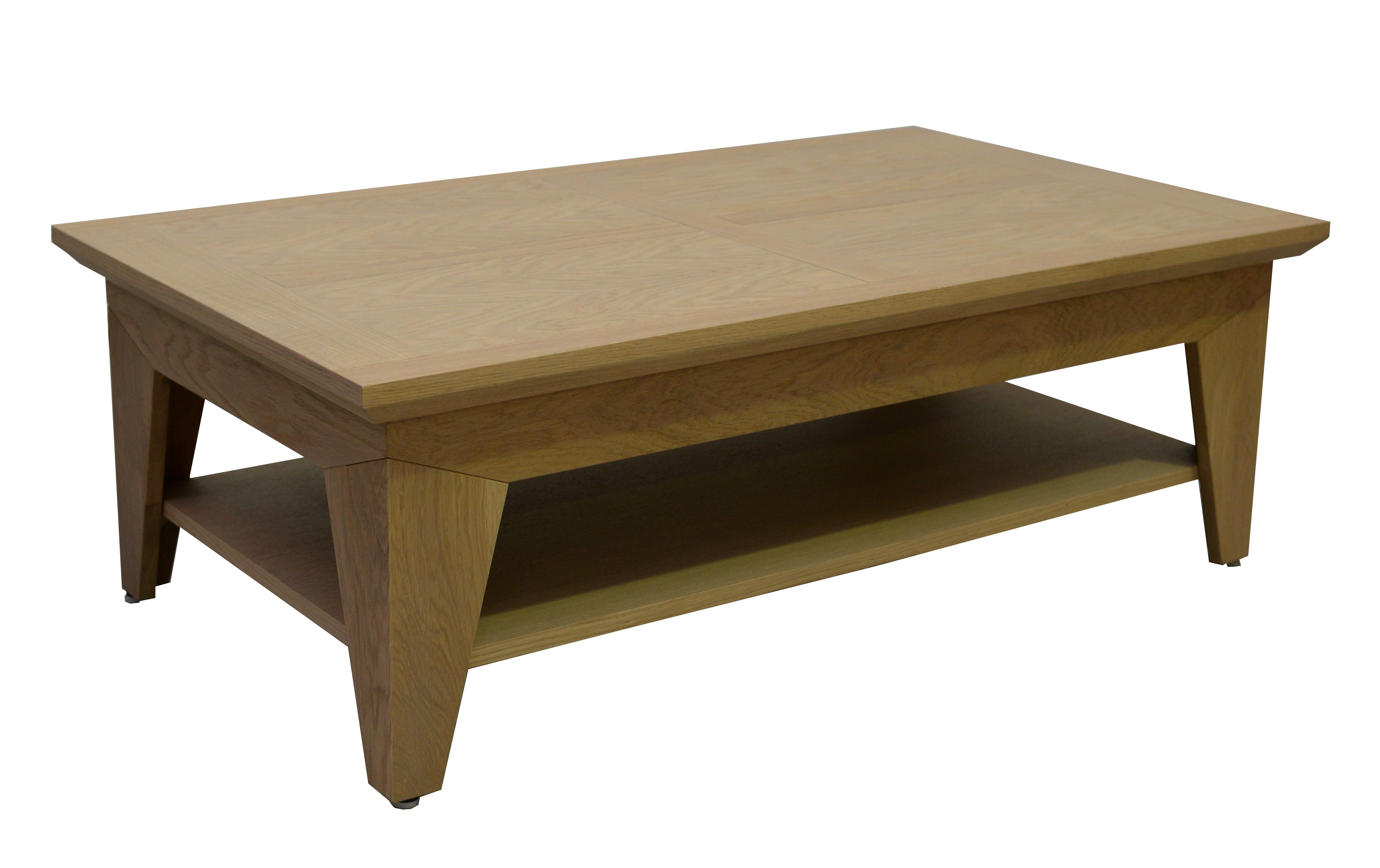rectangle naturelle basse amande finition chic Table chêne CxWorBed