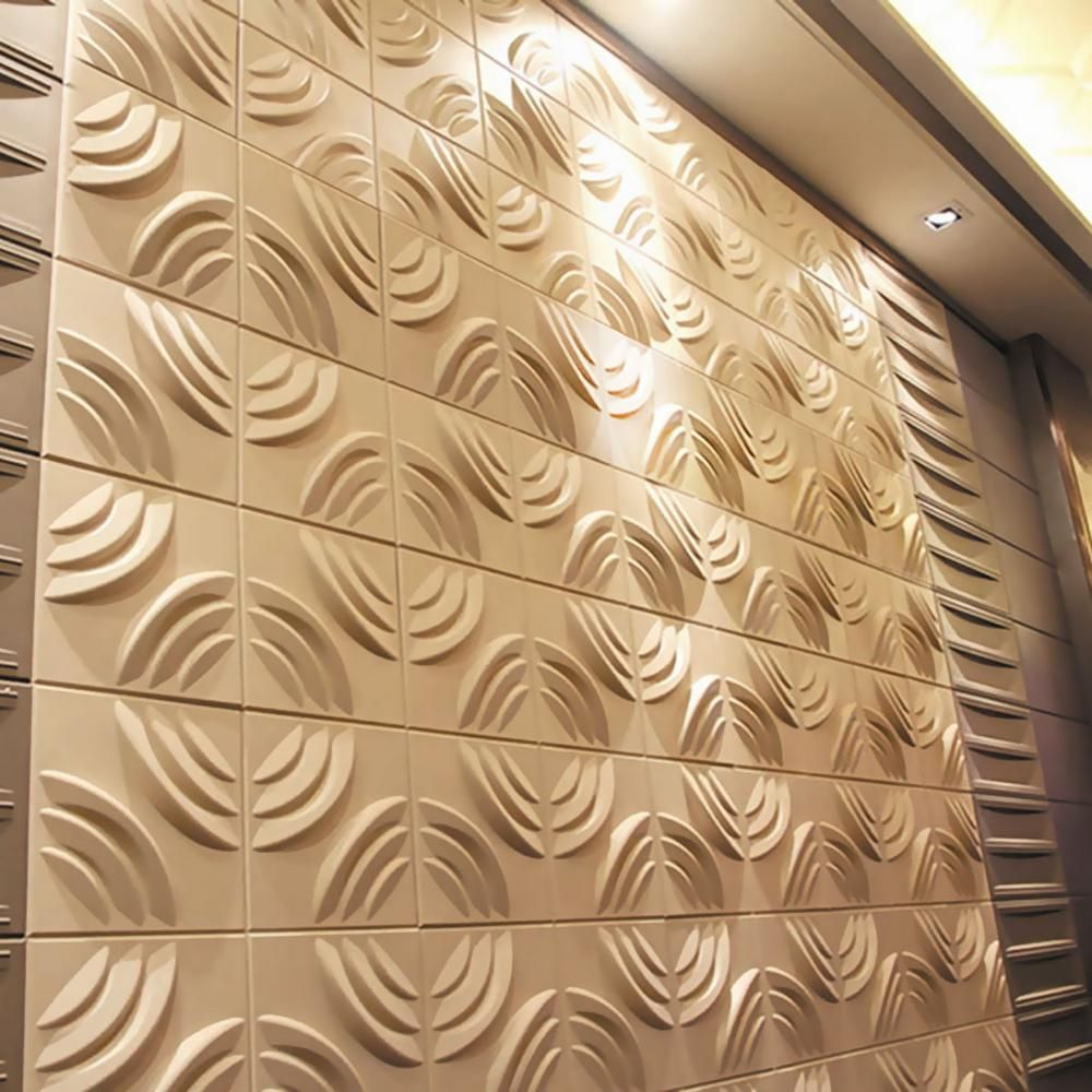 Ekena Millwork 7/8 in. x 11-7/8 in. x 11-7/8 in. PVC White Artisan EnduraWall Decorative 3D Wall Panel-WP12X12ARWH - The Home Depot