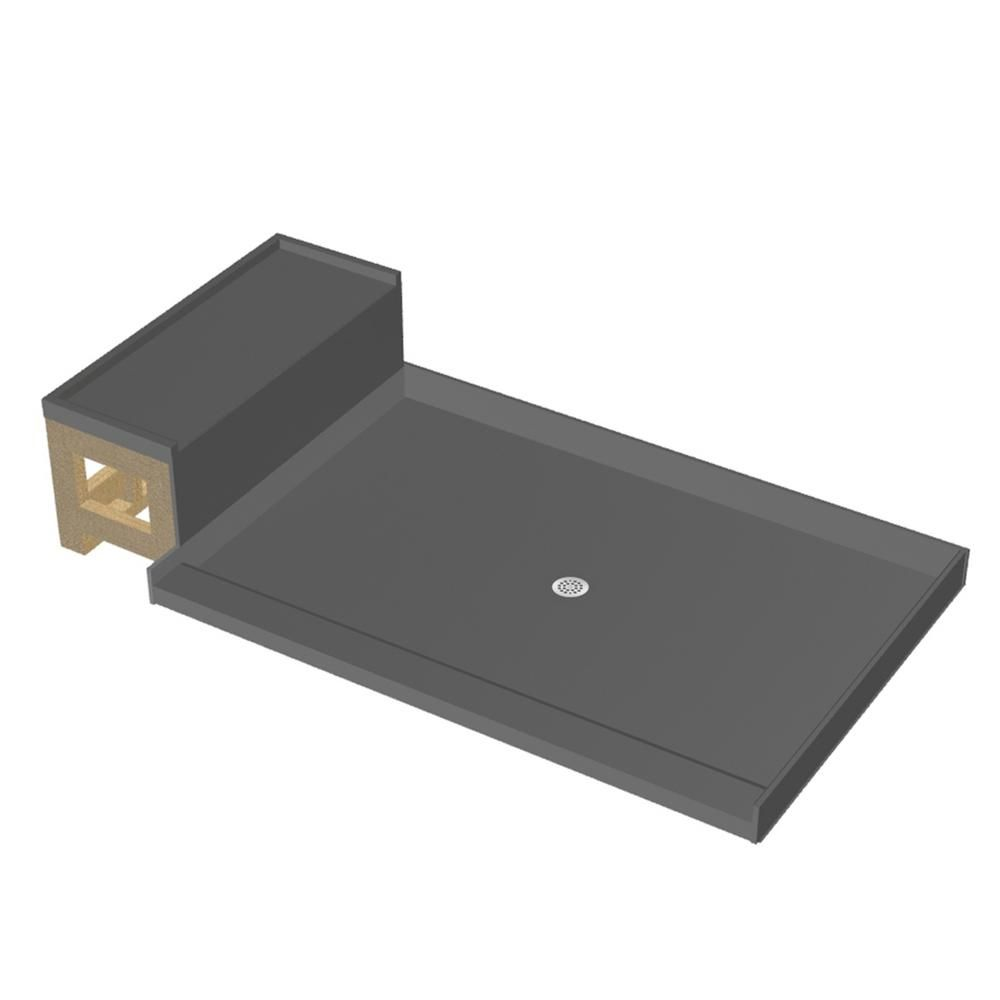 Tile Redi Base N Bench 42 In X 48 In Single Threshold Shower