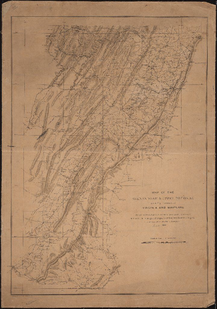 Map Of The Shenandoah Upper Potomac Including Portions Of Virginia