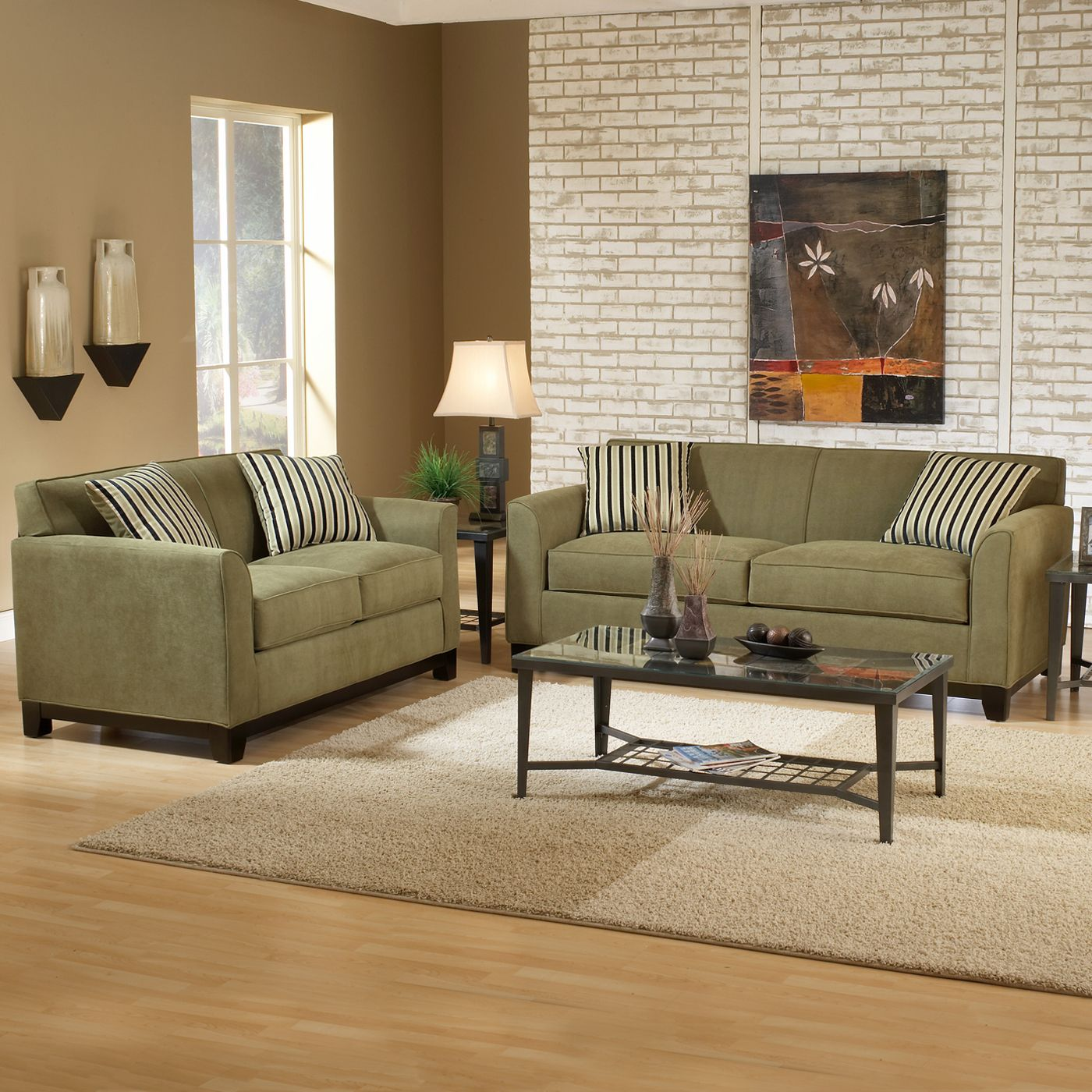 sage green couch, love the flooring too | Our house ...