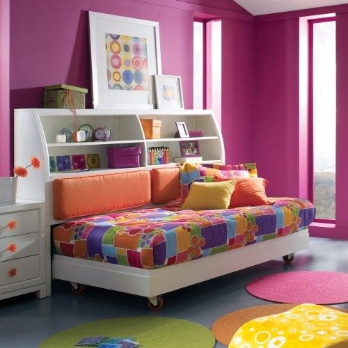 contemporary kids daybed with bookcase and there are nightstand - Daybed Images