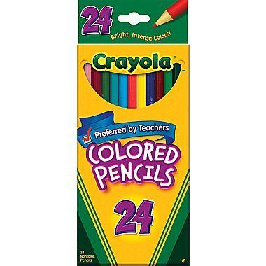 Crayola Colored Pencils 24 Box Crayola Colored Pencils