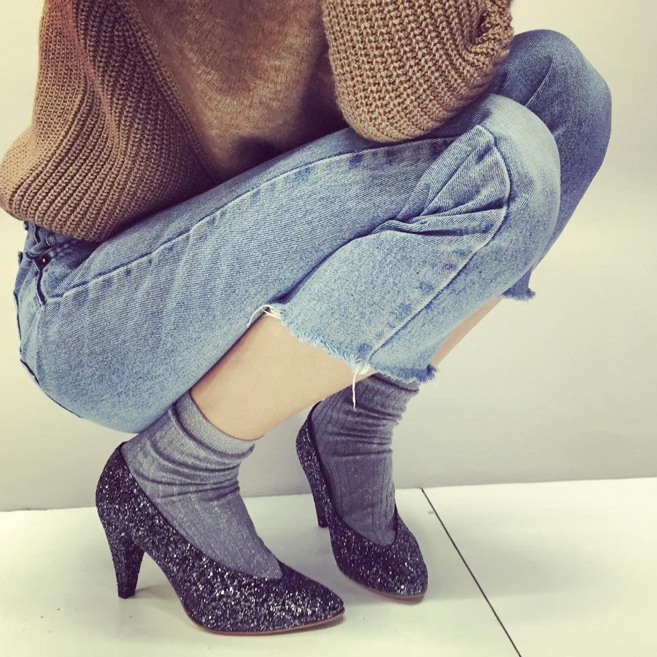Anniel Pump shoes glitter www.annielmoda.com