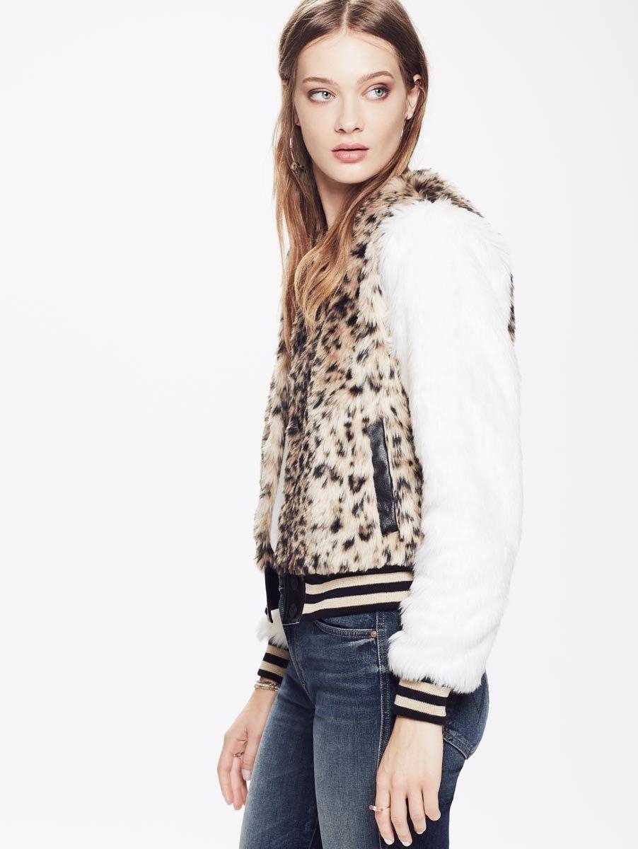 Liddie Grey Faux Fur Shaggy Cropped Jacket | Faux fur