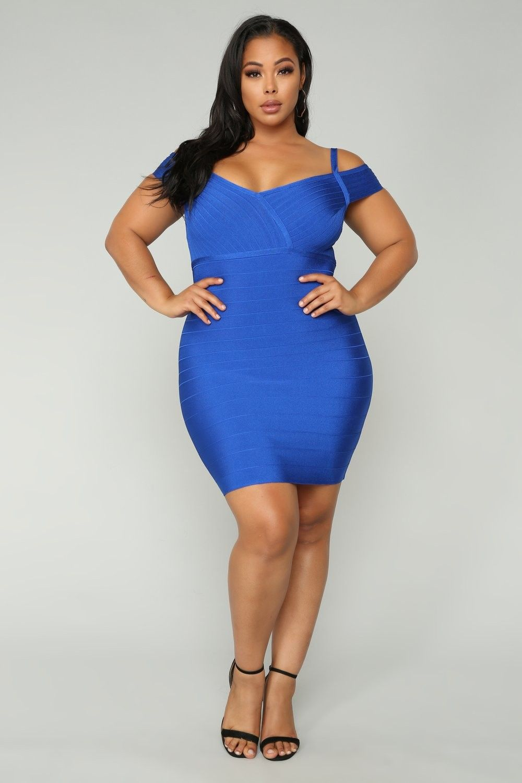 Plus Size Lyon Bandage Dress - Royal $44.99 #fashion #ootd ...