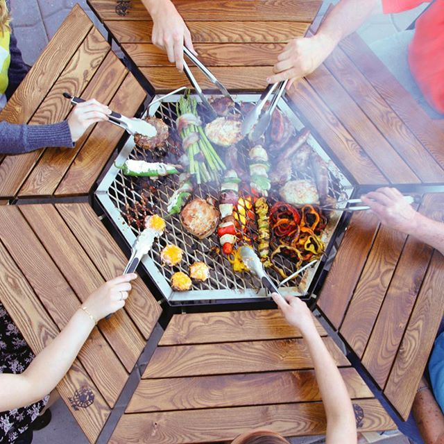 Jag Grills 3 In 1 Bbq Grill Table Firepit Fire Pit Grill Table Grill Table Bbq Grill Design