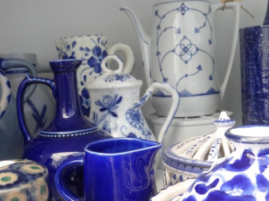 Theepot Saskisch Blauw Zeelandnet Prikbord Jhmi Blauw