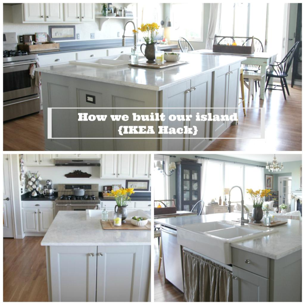 IKEA Hack {how we built our kitchen island} Kitchen