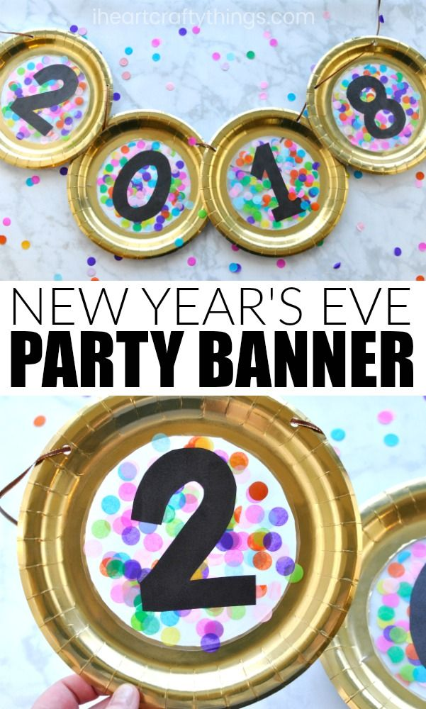 Paper Plate New Year's Eve Banner